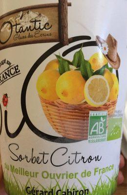 Sorbet citron - Produit