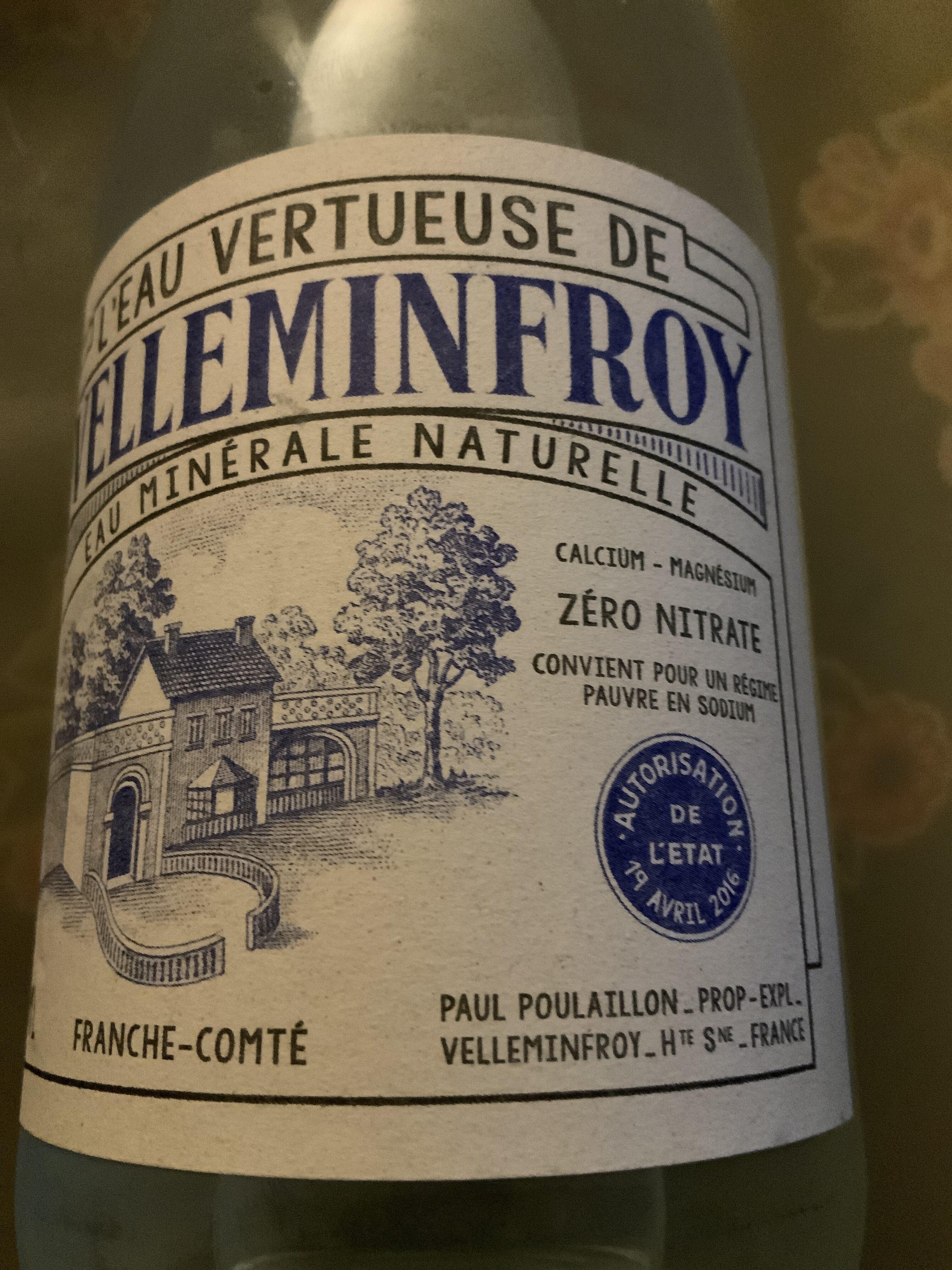 L'eau vertueuse de Vellemfroy - Produkt - fr