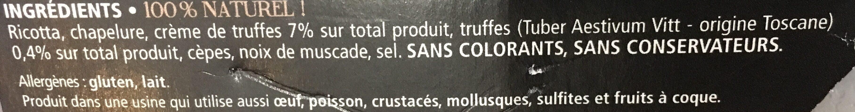 Gnudi aux truffes - Ingredients