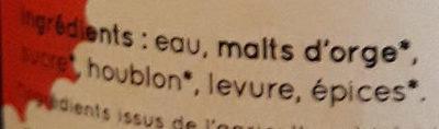 La Brune du Gers - Ingrediënten - fr