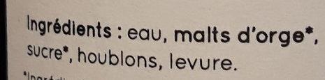 La Gimontoise - Ingrediënten - fr