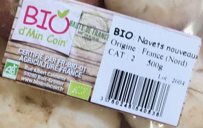Navets nouveaux bio - Ingrédients