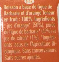 Nopaï Figue de barbarie / Orange - Ingredients