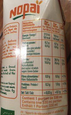 Nopaï Figue de barbarie / Orange - Nutrition facts