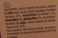 Lait Myrtille - Ingredients