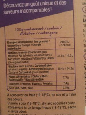 Lait Myrtille - Nutrition facts