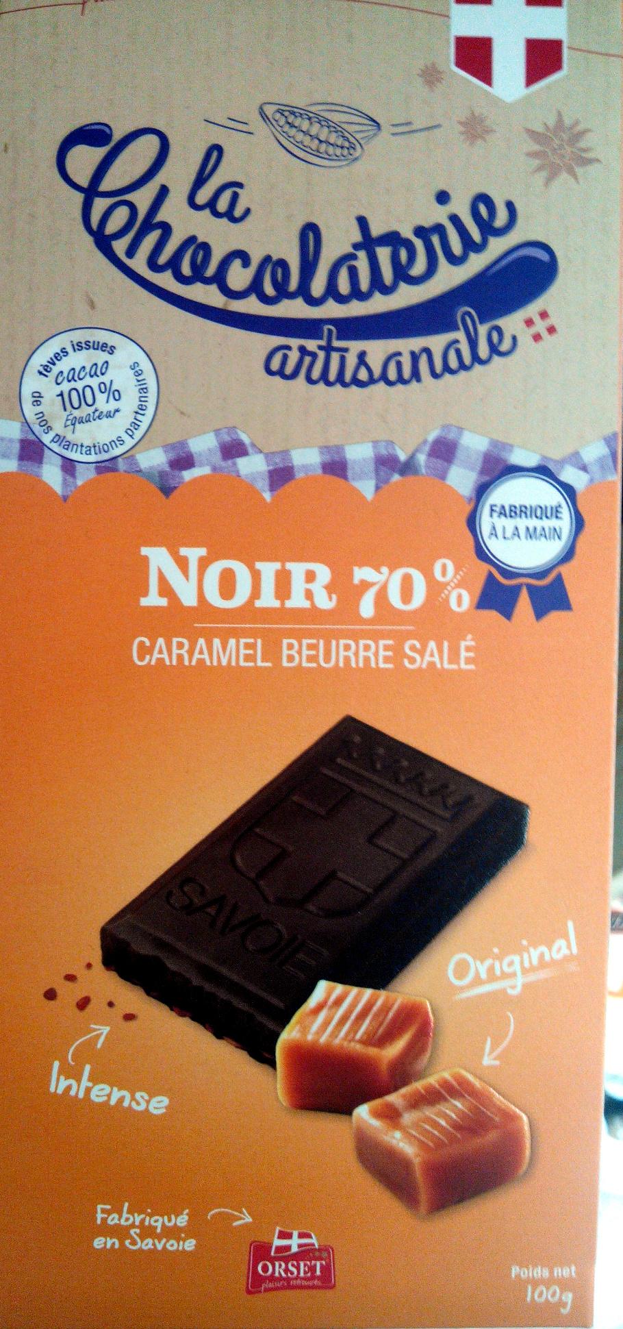 Noir 70% caramel beurre salé - Product - fr