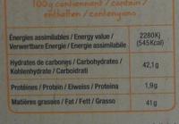 Noir 70% caramel beurre salé - Nutrition facts