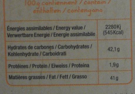 Noir 70% caramel beurre salé - Nutrition facts - fr