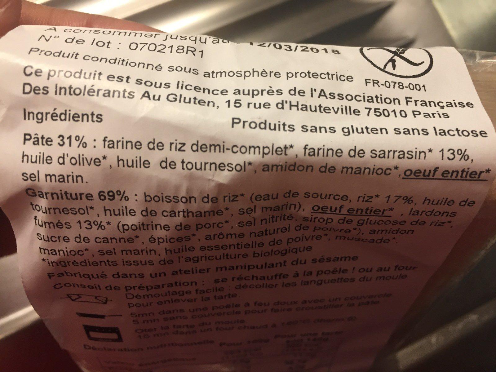 LA FABRIC SANS GLUTEN - Ingrediënten - fr