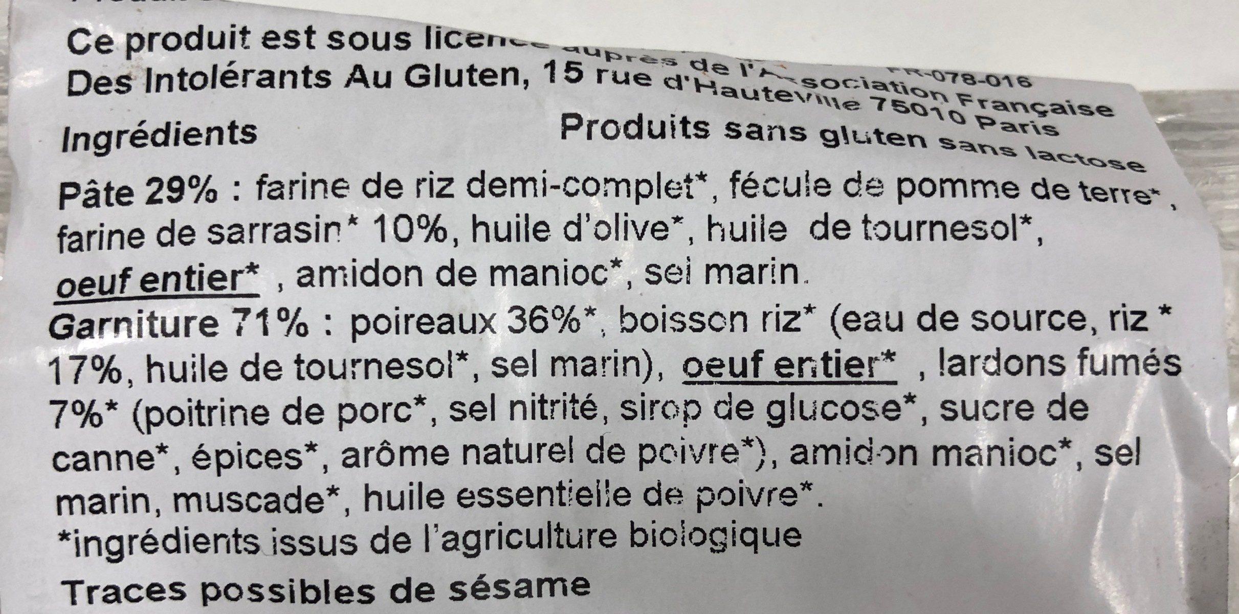 HAPPY DELICES - Ingredients - fr