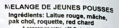 Mélange de Jeunes Pousses - Ingrediënten - fr