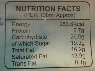 Coco choco - Informations nutritionnelles