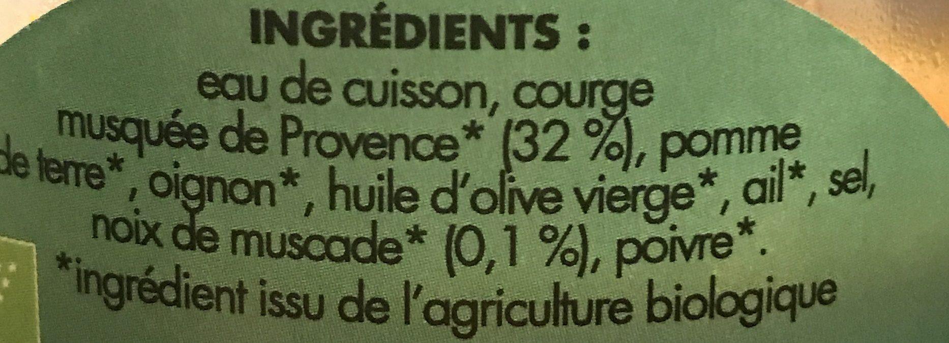 Soupe de courge et noix de muscade - Ingrédients - fr