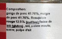 Saint cochon au Beaujolais - Ingrédients