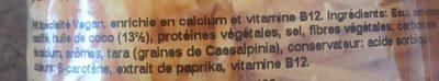 Spécialité vegan - cheddar flavour - Ingredients
