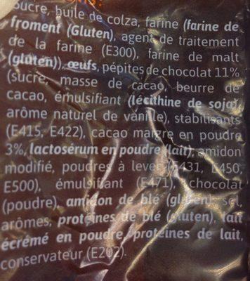 Muffin chocolat - Ingrédients