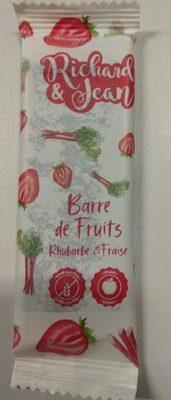 Barre de fruits rhubarbe et fraise - Product - fr