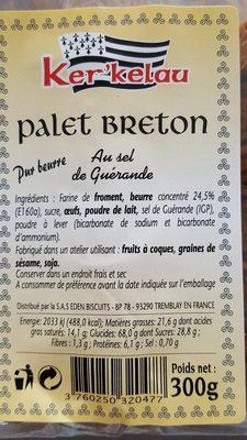 Palet breton au sel de guérande - Ingrediënten - fr