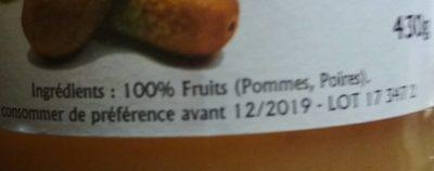 Compote pommes poires - Ingredients - fr