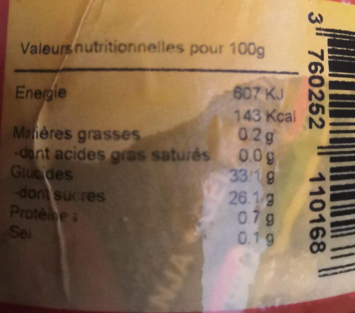 Sorbet aux fruits de la passion - Valori nutrizionali - fr