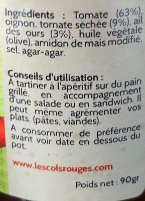 Tartinable à la tomate - Ingrédients - fr