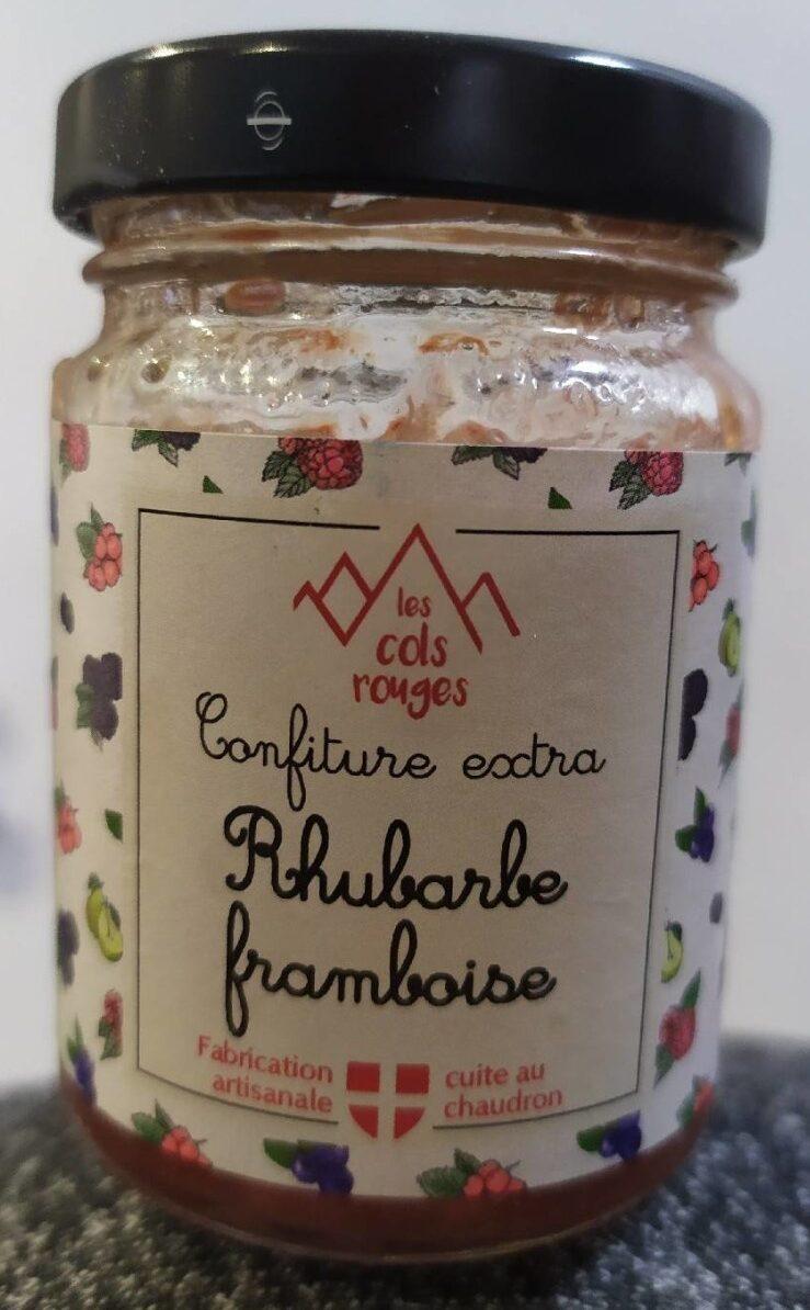 Confiture extra rhubarbe framboise - Produit - fr