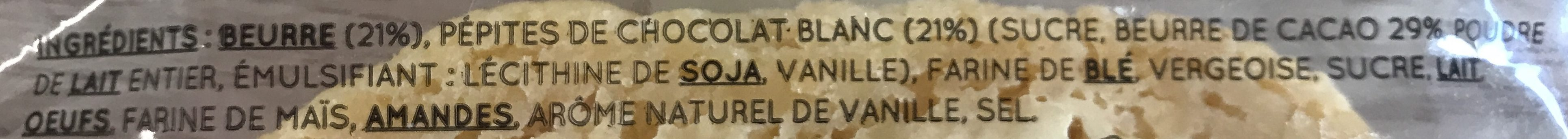 Cookie chocolat blanc - Ingrédients