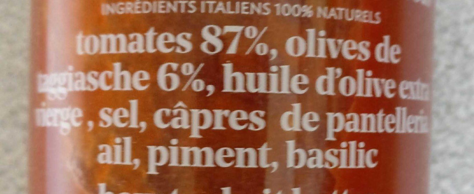 Puttanesca - Ingrédients - fr