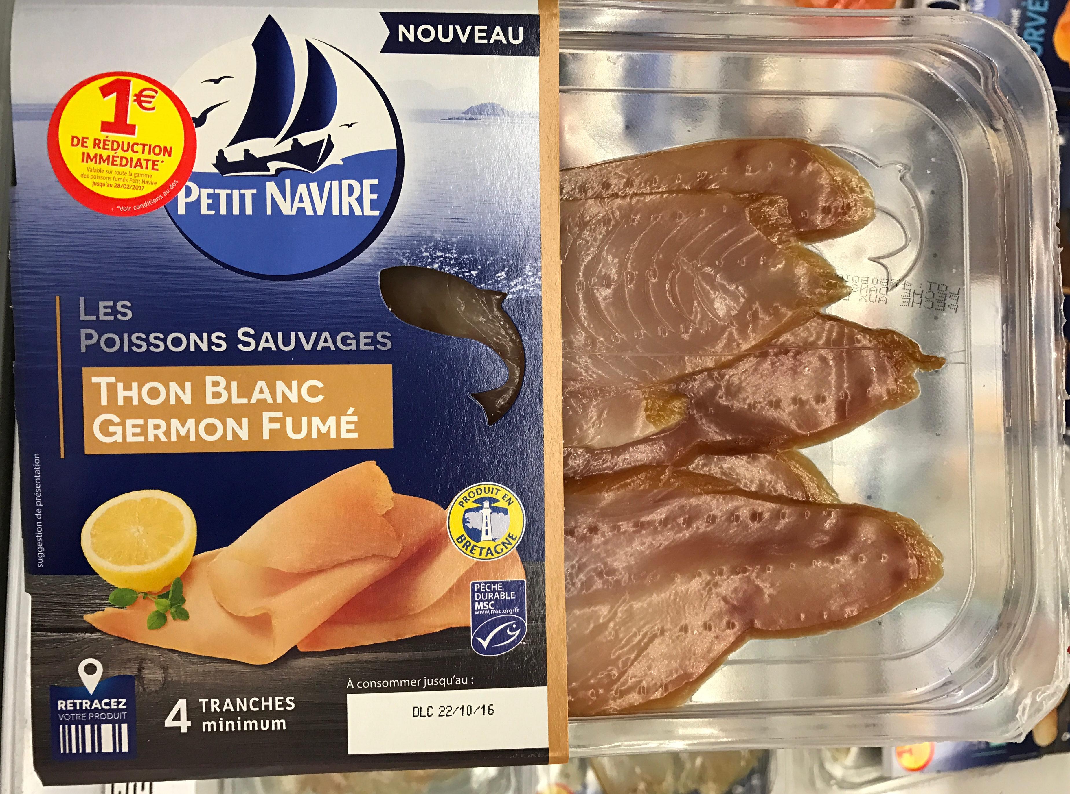 Les Poissons Sauvages Thon blanc Germon fumé - Produit