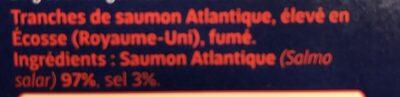 Saumon Fumė D' Ecosse - Ingredients - fr