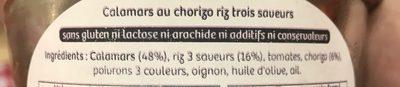 Calamars au chorizo riz trois saveurs - Ingrédients