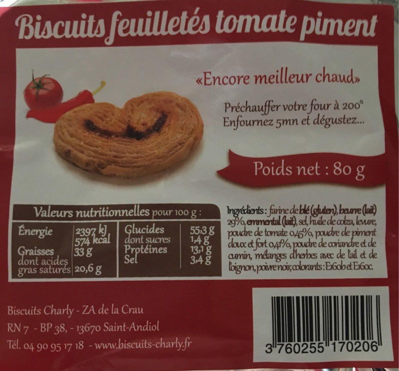 Biscuits feuilletés tomate piment - Produit