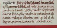 Biscuits feuilletés tomate piment - Ingrédients