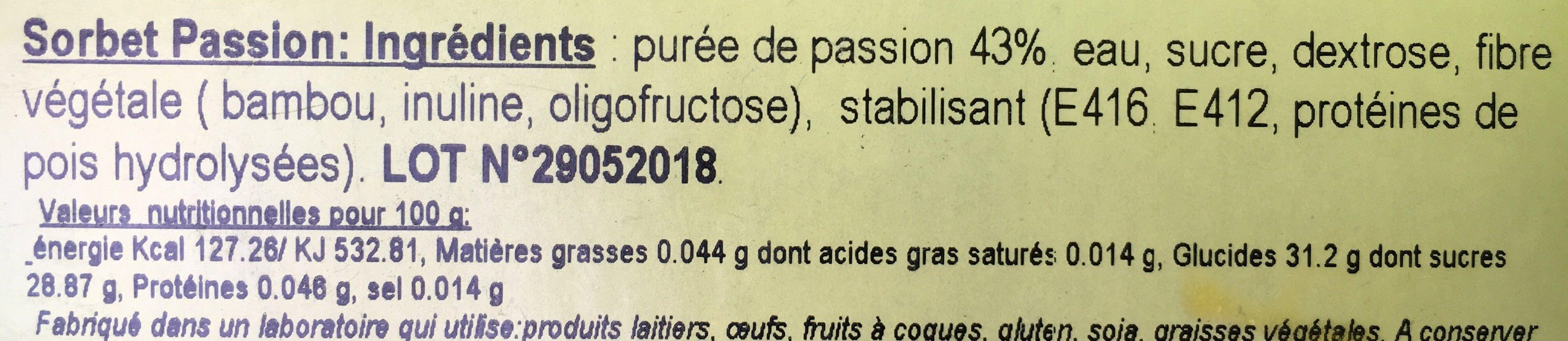 Passion - Ingredienti - fr