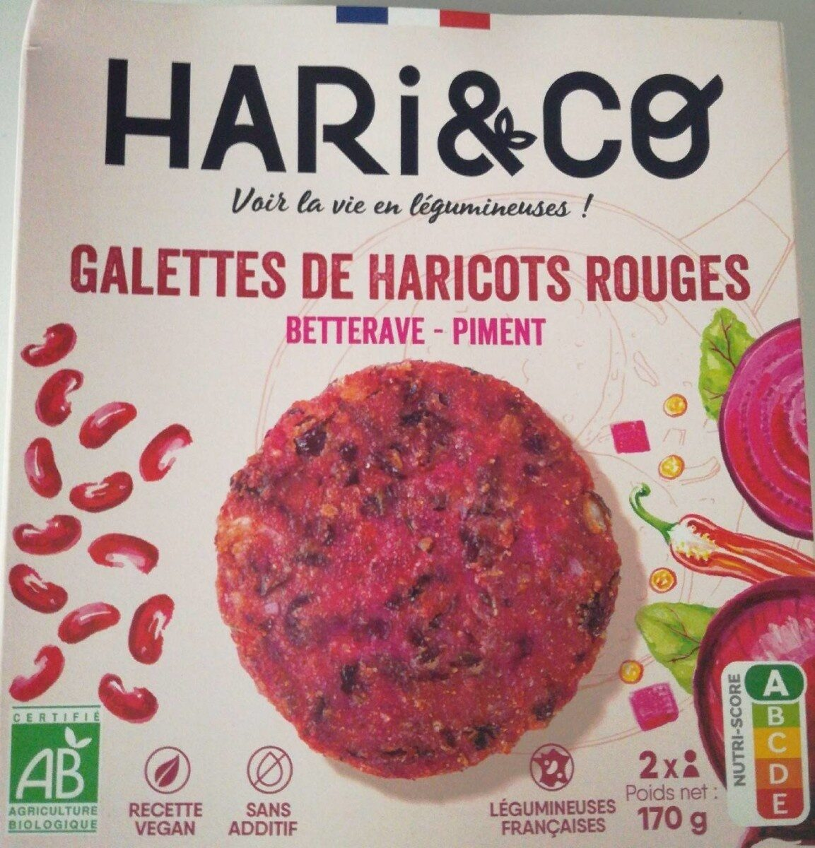Galettes de haricots rouges betterave piment - Produit - fr