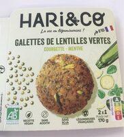 Galettes de lentilles vertes - Produit - fr