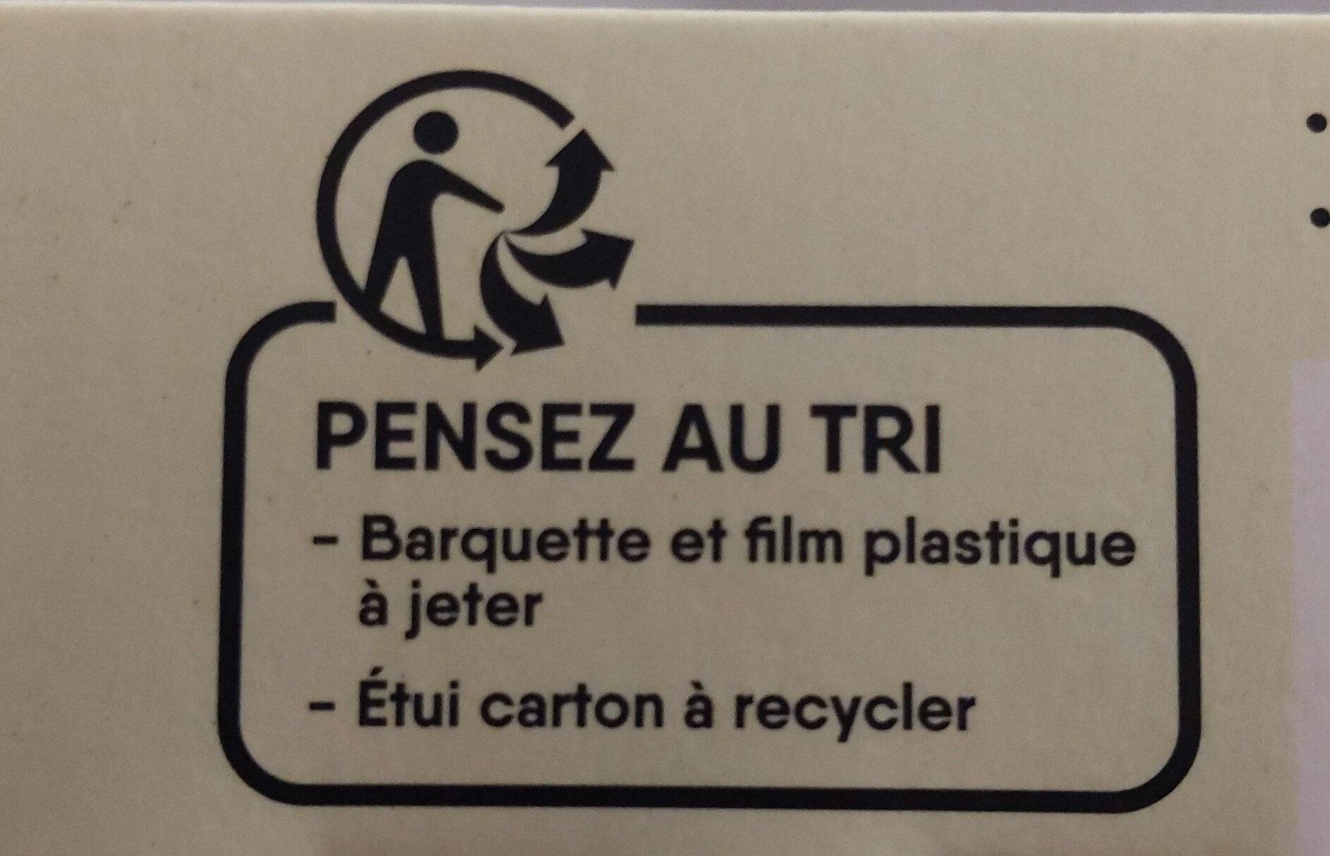 Galettes de lentilles vertes - Instruction de recyclage et/ou information d'emballage - fr