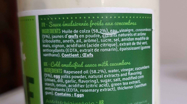 Sauce blanche - Ingrediënten