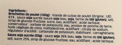 Yakitori sauce soja sucrée - Ingrédients - fr