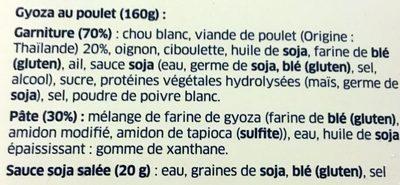 Gyoza Poulet - Ingredients