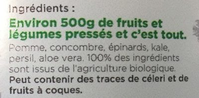 Jus Amour - Ingredients - fr