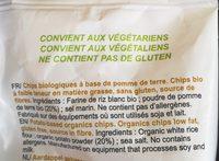 Chips a Base De Pomme De Terre - Ingredients