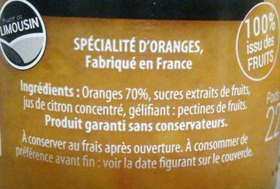 Les épurés 100% issu des fruits Orange - Ingredients
