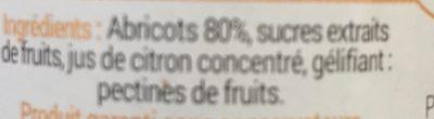 Coulis abricot de Provence - Ingredients - fr