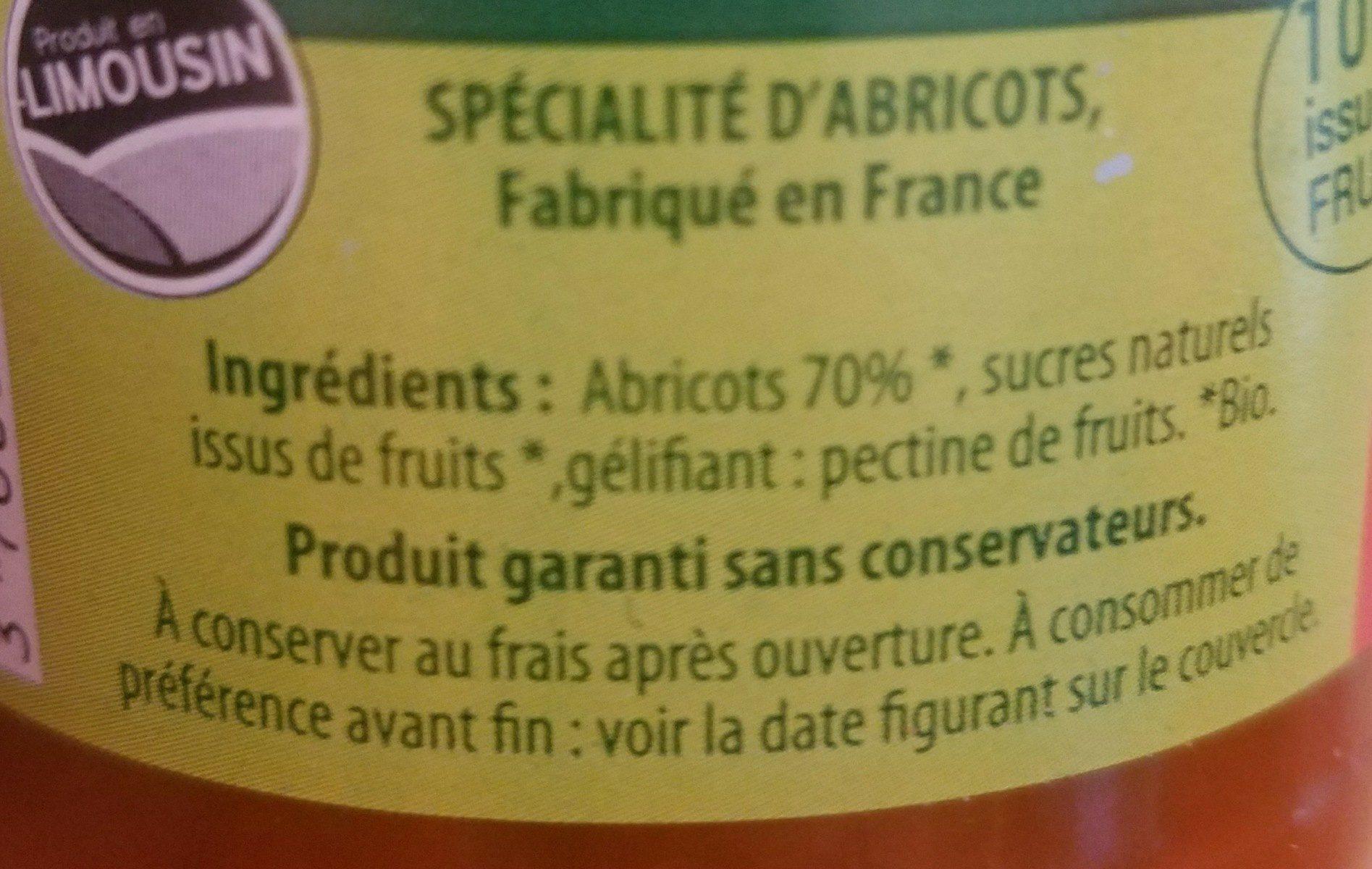 Confiture - Ingrédients