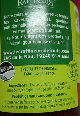Confruipure bio 100% issu des fruits - Ingredients - fr