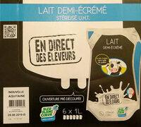 Lait demi-écrémé En Direct Des Éleveurs - Product - fr