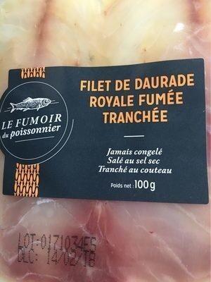Filet de daurade royale fumée tranchée - Product - fr