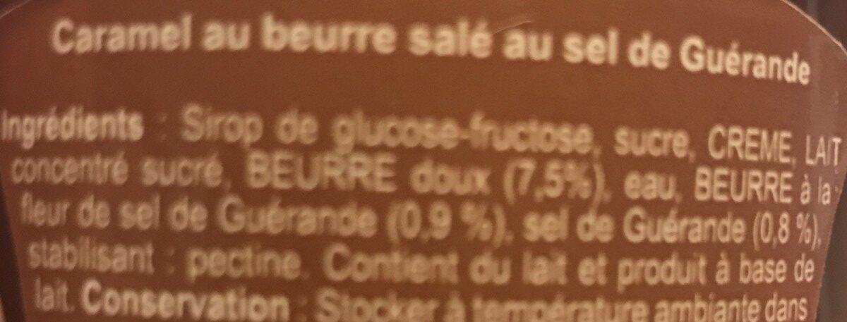 Caramel au beurre salé au Sel de Guérande - Ingrédients - fr